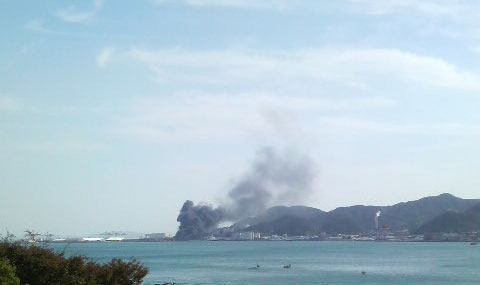 関門海峡 タンカー爆発