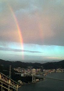 火の山 虹 下関
