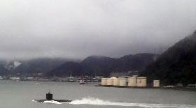 関門海峡 潜水艦